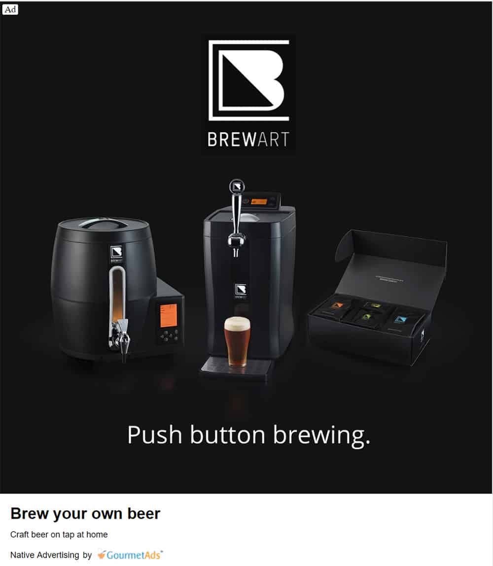 Brewart - Native Advertising Examples